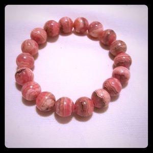 Jewelry - 100 % GEMSTONE ROSE QUARTS BRACELET